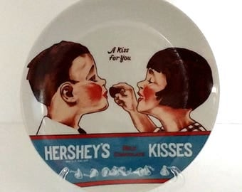 Hersheys Kisses Plate-1970s Hersheys Collectible Plate