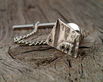 Sterling Tie Tack - Abstract
