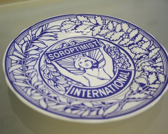 Soroptimist International 75th anniversary plate by Spode, vintage