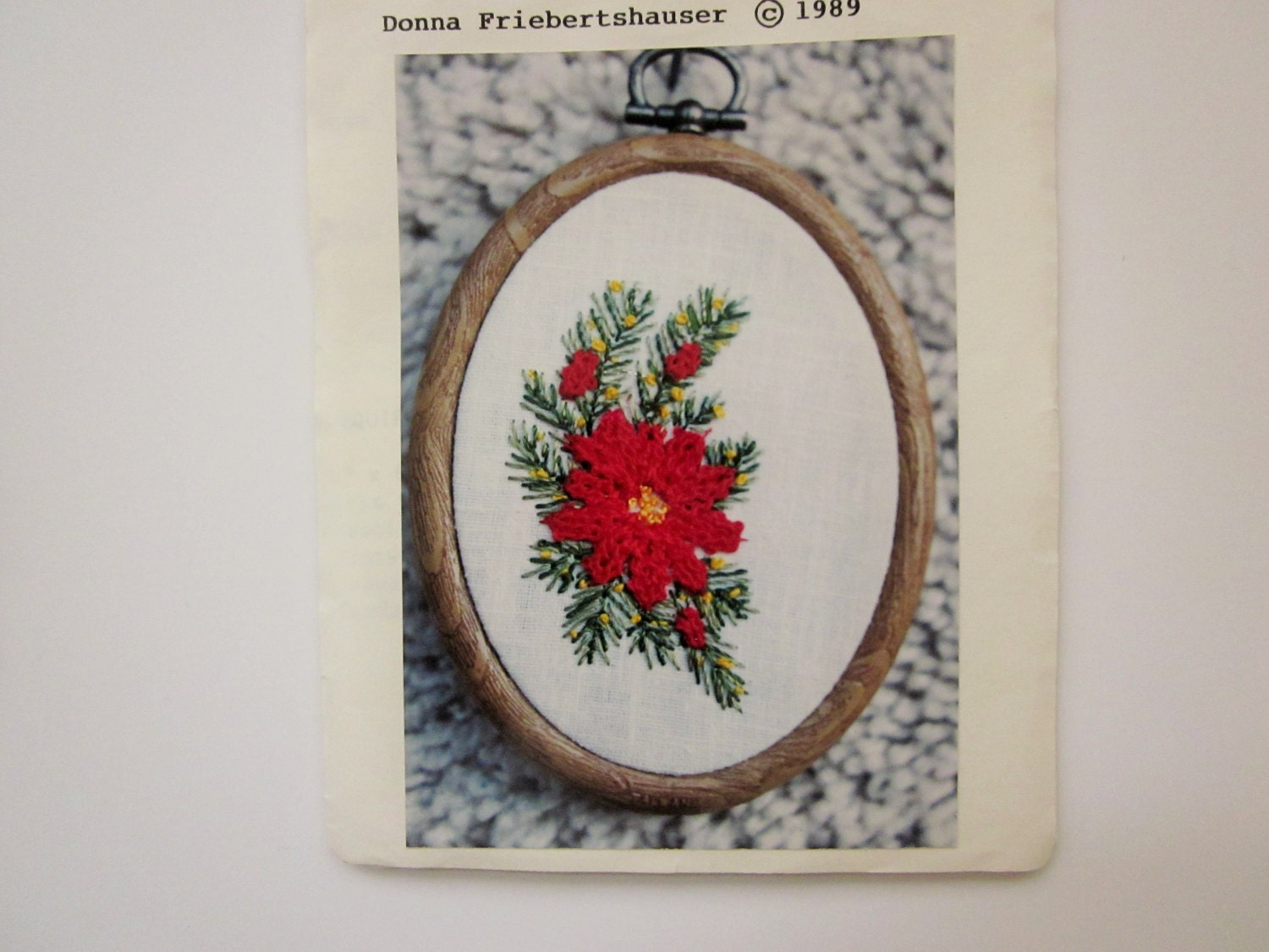 Little needlework kit ruffled poinsetta by donna