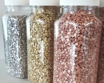 8oz Edible sequins, edible confetti, cupcake sprinkles, cake decoration, cupcake decoration