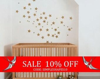 Sale - Small Stars - Kids vinyl Wall Sticker