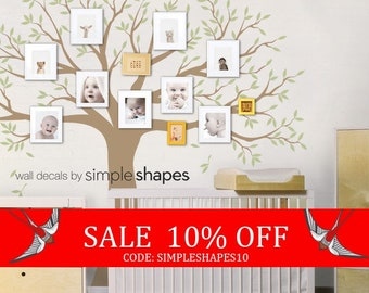 Sale - Wall Decal Family Tree Wall Decal Sticker Family Photo Tree Family Like Branches on a Tree Vinyl Wall Sticker Photo Tree Decal Tre...