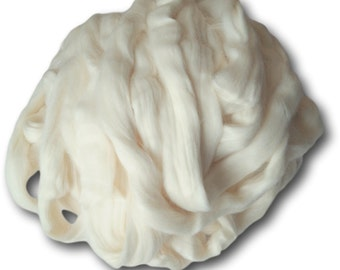 Egyptian Cotton Vegan Spinning Fibre Soft Natural Ecru