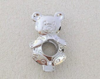 QTY: 4 pieces Teddy Bear - pearl cage pendant - Locket - charm - gemstone - cage - Pick a pearl