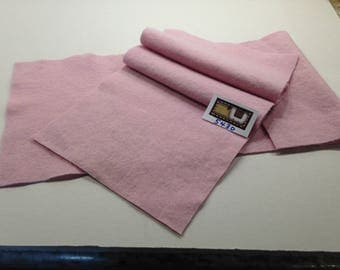 5430 - Pale Pink Felted Wool Sewing Fabric/2 Pieces/vintage/woven felt/handmade/recycled/craft supplies/general supplies/WoolenCrow 6.50