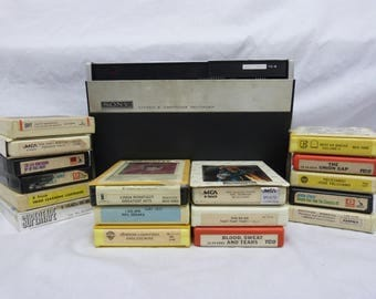 Vintage Sony Stereo 8 Track Cartridge Recorder Model TC-8. Unique Piece, Great Conversation Piece! 8 Tracks Included