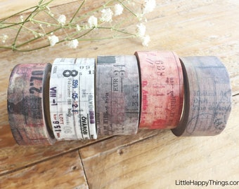 New - Sunny Sunday Original Washi Masking Tapes-Collage Series at your choice for journaling, collage, packaging, card making