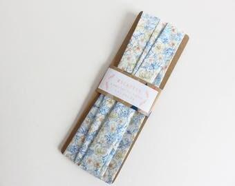 "4 Yards 1"" Single Fold Bias Tape Liberty Lawn 'Mrs Monroe C' fabric"