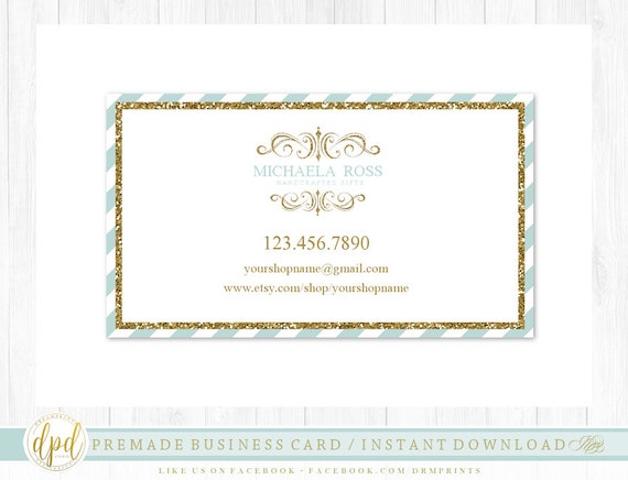 Custom Premade Blank DIY Single Sided Business Card | Business Template | Business Branding | Business Graphics | INSTANT DOWNLOAD-AA109
