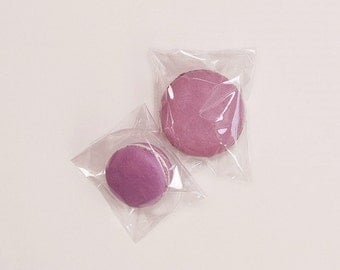100 self sealing cello bags for macarons in 2 different sizes