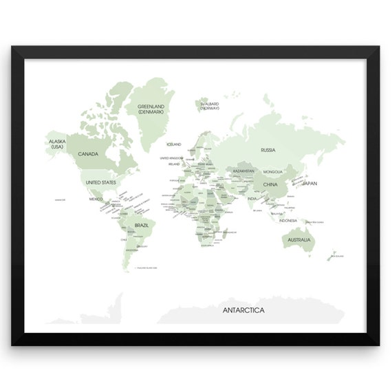 World map wall art print map my travels college by for World map wall print