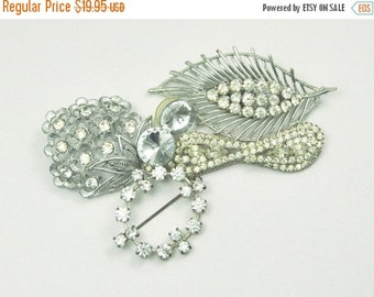 Vintage Crystal Rhinestone Brooch Lot Sarah Coventry to Wear or Upcycle