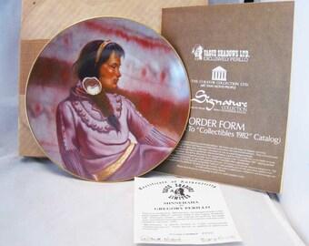 Minnehaha Native American Princess Series Collector Plate Gregory Perillo W/COA
