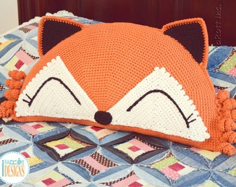 CROCHET PATTERN Foxy the Fox Pillow PDF Crochet Pattern with Instant Download