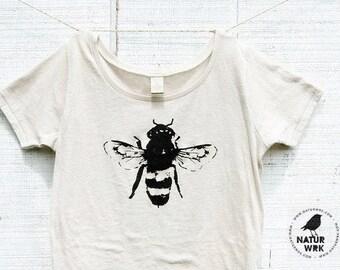 Womens Shirt - Honey Bee Shirt -Womens - Bamboo - Natural Cotton -  Honey Bee - Organic shirt - Small, Medium, Large, XL- Clothing -Tshirt