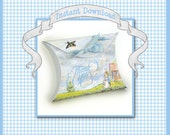 """Peter Rabbit Favor Box / 3.5"""" Pillow / Baby Shower, Birthday Party / Blue Thank You / Instant Download Print & Cut Template, Beatrix Potter"""