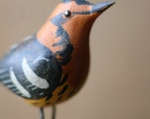 Blackburnian Warbler - Folk Art/ Primitive/ Carving/ Folk/ Hand Carved/ Farmhouse/ Cottage