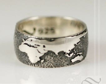 The World Wrapped Around my Finger - Sterling Silver