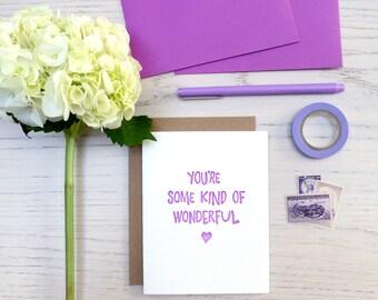 some kind of wonderful letterpress card