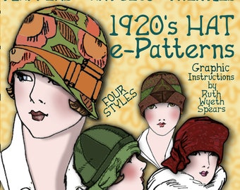 Sew 4 Vintage 1920s FLAPPER CLOCHE Hat - DOWNTON Abbey Style e-Patterns (Shirley Set) Pdf A