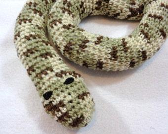 Snake Door Draft Stopper, Toy Snake, Crochet Brown, Cream and Tan Snake, Window Draft Stopper by CrochetedbyCharlene, Gift for Dad or Mom
