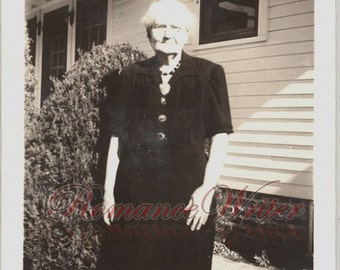 Ageless Beauty Vintage Photo of a Pretty Older Woman