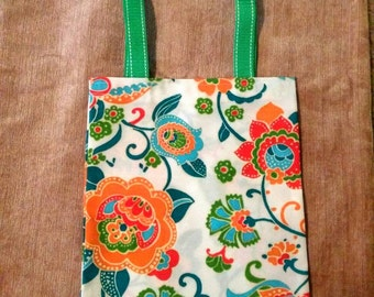 Gorgeous bright canvas tote bag