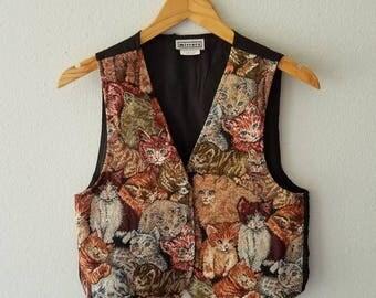 Vintage CAT Vest Waist Coat 80s (s-m)