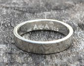 Custom Listing For James - 14k Palladium White Gold Mokume Gane & Silver Ring Wedding Ring ( MK-Plain Pd/.925W/Sil )