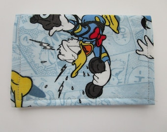 Donald Duck Wallet, Credit Card Wallet, Disney Gift Card Holder, Business Card Holder, Gift Card Wallet, Small Wallet, Walt Disney Wallet