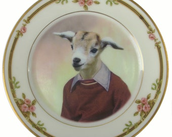 Billy Goat Portrait Plate 6.4""