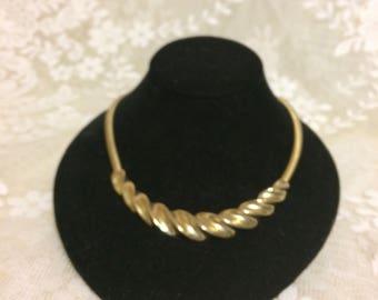 Nice Brass Choker Necklace