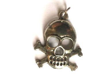 Vintage Skull Pendant or Charm
