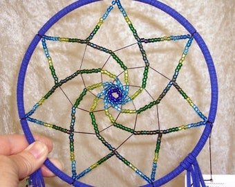 FAERIE STAR - 7 Inch Dreamcatcher in Royal Blue by FeatheredDreams1