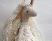Shimery Gold and Cream Unicorn