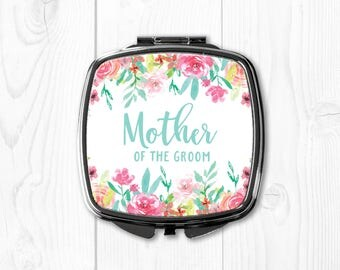 Mother of the Groom Gift from Bride Personalized Compact Mirror Pink Mother of the Groom Gift Ideas Wedding Gift for Mother in Law to Be