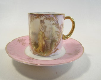 Antique Rosenthal Demitasse Cup Saucer MonBiJou Bavaria