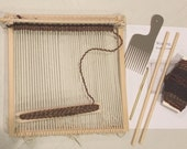 weaving frame loom kit, handcrafted loom kit with all need to weave