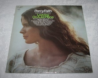 """Vintage Vinyl LP Record Album """" Percy Faith """" His Orchestra and Chorus """" Leaving On A Jet Plane """" Columbia Records"""
