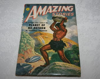 Vintage Amazing Stories Magazine May 1951 Sci Fi fantasy