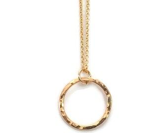 Gold necklace, infinity necklace,