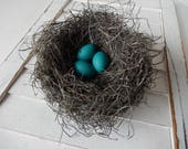"CUSTOM ORDER for ""Colleen"" Rustic Bird Nest Handmade Decor Perch And Patina"