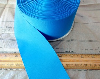 "new roll of 3"" blue grosgrain ribbon - 50 yards, polyester, made in USA"