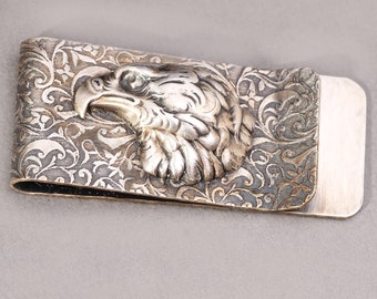 Mens Money Clip Silver Money Clip Eagle Money Clip Wedding Bridal Mens