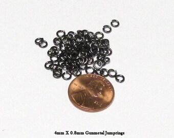 4mm Gunmetal Jump Rings