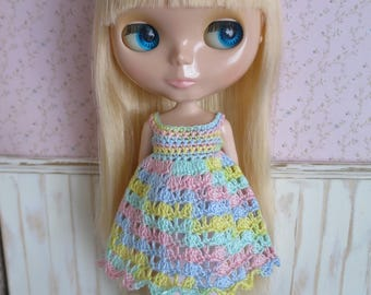 Blythe Rainbow Crochet Dress