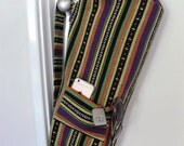Yoga Bag - Exercise mat bag - Meditation hold all - purple green orange and yellow stripes