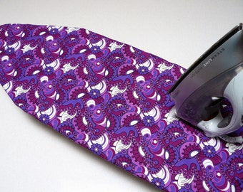 Ironing Board Cover TABLE TOP - shades of purple retro paisley