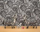 Zebra stripes wall art print: Stripes